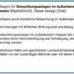 Lichtverschmutzung Gesetz Bayern BayNatSchG Artikel 11a