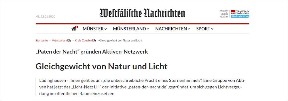 Lichtverschmutzung in Lüdinghausen reduzieren