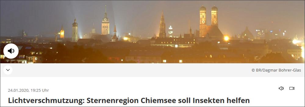 Sternenregion Chiemsee, Paten der Nacht Lichtverschmutzung