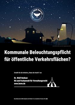 Straßenbeleuchtungspflicht in Deutschland, Beleuchtung öffentlicher Flächen