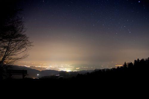Lichtglocken durch Lichtverschmutzung 04